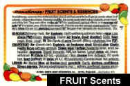 FRUIT Scents and Essences Essential Oils Card: