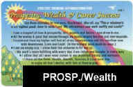 PROSPERITY, WEALTH,& CAREER SUCCESS Affirmations Card: