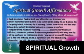 SPIRITUAL GROWTH Affirmations: